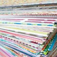 50+ Mixed Lot of 6 x 6 Scrapbook Paper & Cardstock - Great Card Making & Mats