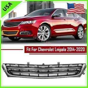 For 2014 2015-2020 Chevrolet Impala Sedan Front Bumper Lower Grille Chrome Black
