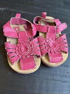 Toddler Girl Carters Size 4 Pink Flower Sandals