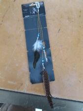 Harley Davidson OEM Black Shield Faisan Feather Clip Hair Jewelry HG58002