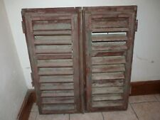 "Vintage Window Shutters 38"" x 17"" Antique"