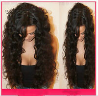 Full Lace/Lace Front Wig Peruvian  Human Hair   curly wavy baby hair around