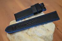 MA WATCH STRAP 26 24 22 MM GENUINE CALF LEATHER BAND IMOLA BLUE HANDMADE SPAIN