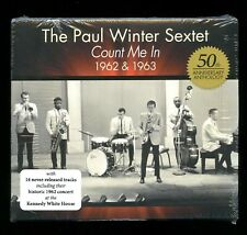 The Paul Winter Sextet count Me In 1962 & 1963 2 CD 2012 Living Music LMU-44 new