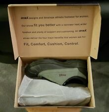Ryka Laurel Green Suede Zip Front Water Resistant Sport Shoes New In Box 7.5 M