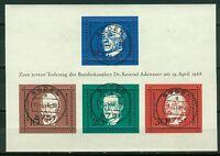 Bund Block 4  - Block , Einzelmarken ( 554 - 557 ) ,  SST , Tagesstempel , o ,