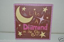 Nice Twinkle Little Star Girl's Room Canvas Art Like A Diamond In The Sky Target