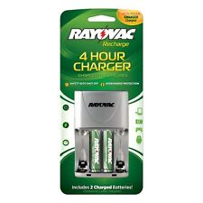 Rayovac PS133-2B 4 Position AA/AAA 4 Hour Value Charger with 2 AA Batteries