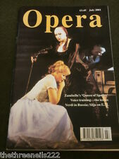 OPERA MAGAZINE - VOICE TRAINING - JULY 2001