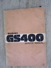1976 Suzuki GS400 Motorcycle Service Manual Inspection Adjustment Engine   L