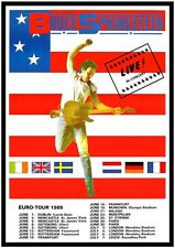 Bruce Springsteen POSTER Live In Europe 1985 VINTAGE Image