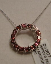 """NEW 18"""" Pink Rubellite Tourmaline Necklace 1.8cts 14k WG (FREE GOLD CHAIN)"""