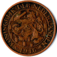 COIN / THE NETHERLANDS / 1 CENT 1916  #WT1942