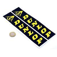 Dunlop Fork Stickers Classic Motorbike Racing Vertical Vinyl Decals 200mm x2 BLK