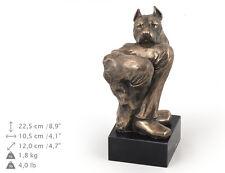 American Staffordshire Terrier, dog bust marble statue, ArtDog , Ca