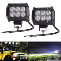 18W LED Work Light 4WD Offroad Spot Fog ATV SUV UTE Driving Lamp For Jeep