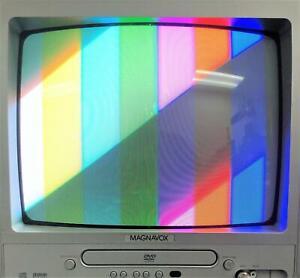 """Magnavox MWC13D6 13"""" CRT Color TV w DVD Player Combo Unit"""