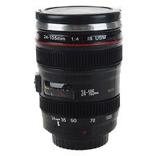 SLR Camera Lens Shape Stainless Steel Cup Milk Tea Travel Mug W/ Lens Lid 50ML
