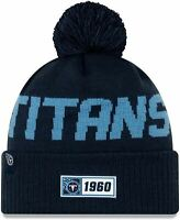 New Era Tennessee Titans Official NFL Knitted Bobble Hat 100% Acrylic