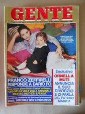 GENTE n°17 1977 Ornella Muti Giancarlo Antognoni Pia Giancaro Dario Fo [G769]
