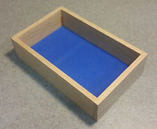 Dungeon Werks Mini High Side Red Oak Dice Tray with high density foam.