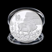 Year of Pig Commemorative Coin Chinese Zodiac Silver Plated Coin New Ye UR