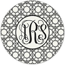 Monogrammed Mouse Pad - Personalized Geometric Pattern Mouse Pad Custom Monogram