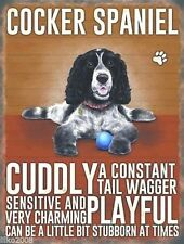 """COCKER SPANIEL DOG 12""""X 8"""" MEDIUM METAL SIGN 30X20cm WITH CHARACTER TRAITS/ DOGS"""
