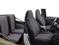 1997-2002 Jeep Wrangler TJ Custom Neoprene Seat Covers Front Set Gray TJ127front