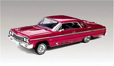 1/25 Scale Plastic Lowrider Chevy Impala 1964 Toy Model Car W/ Opening Hood Red