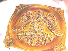 Vintage Haeger American Eagle Ceramic Wall Hanging Decorater Plate - #1072   626