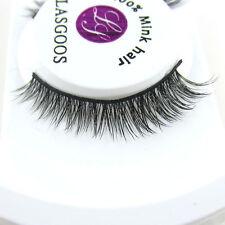 Reusable Classic Beauty False Eyelashes 100% Siberian Mink Fur Short Eye Lashes