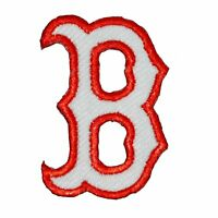 ⚾ Boston Red Sox Small Letter B Hat Logo Embroidered Iron On Patch 2""