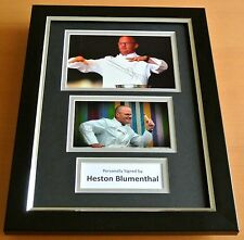 Heston Blumenthal Signed A4 FRAMED Photo Autograph Display Fat Duck TV Chef COA