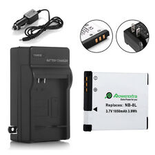 NB-8L NB8L Li-Ion Battery+Charger For Canon PowerShot A3000 A3100 A3200 A3300 IS