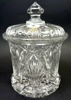 VINTAGE 1990s THE BOMBAY CO 24% LEAD CRYSTAL COVERED VANITY CANISTER SLOVAKIA