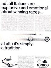 1965 Alfa Romeo Giulia Spider - Original Advertisement Print Art Car Ad A81