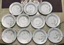 Seltmany Weiden Bavaria Bowls Floral with Gold Rim, Set of 11