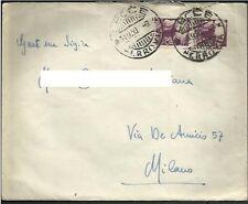 1950 Lettera spedita da Lecce il 30-9-50 per Milano