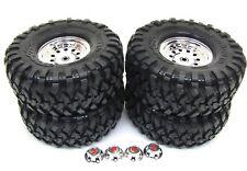"TRX-4 Ford Bronco - TIRES & Wheels (Assembled glued 1.9"" chrome Traxxas 82046-4"