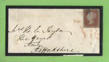 G.B. 1851 Q.V. 1d on mourning cover, Bath to Stone. 'Georges Royal Hotel' cachet