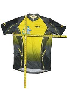 Louis Garneau Mean's Cycling Jersey, Medium, Short Sleeve, High-Visibility