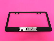F-150 F150 BLACK Powder Coated Metal License Plate Frame Tag Holder w/Screw caps