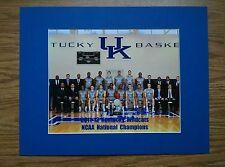 Kentucky Wildcats 2012 NCAA basketball National Champions matted team photo