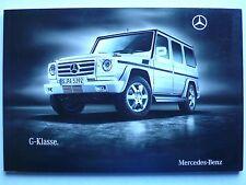 Prospekt Mercedes G Klasse W 463 G 350 CDI, G 500, G 55 AMG, 9.2009, 84 Seiten