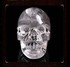 Rare white natural quartz crystal skull carving statue 1.5 inch *2 inch AA