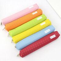 Kawaii Canvas Pencil Pen Case Cosmetic Makeup Coin Pouch Zipper Bag Purse Gift