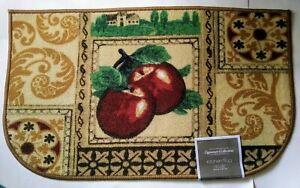 """Apples Theme Kitchen Mat Slice Rug 18"""" x 30"""" Kitchen Home Decor"""