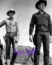 Steve McQueen Yul Brynner The Magnificent Seven Signed Repro Photo