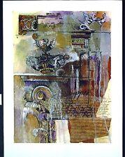 "Original Mixed Media Mono Print by Liz Jardine ""Emperors Plan I"""